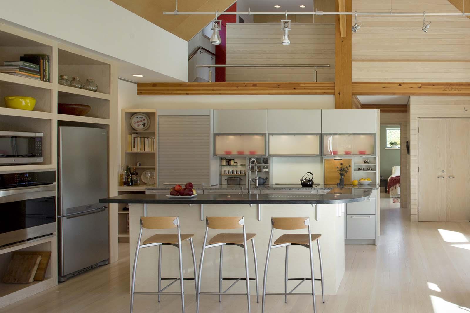 Vermont Passive House open kitchen